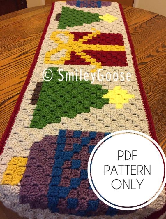 Christmas Runner Patterns.Crochet Christmas Table Runner Pattern Crochet Christmas Pattern C2c Christmas Pattern C2c Crochet Pattern Table Runner Crochet Pattern