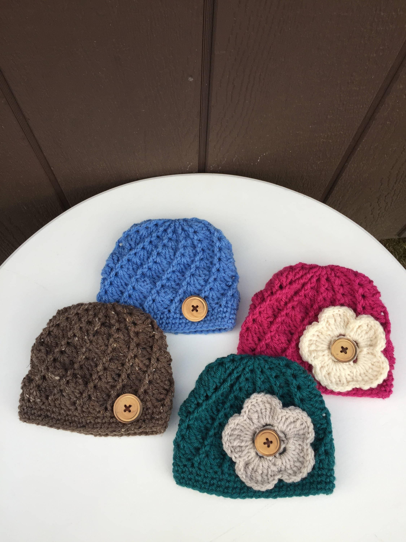 chapeau b b fille avec fleur chapeau b b gar on avec etsy. Black Bedroom Furniture Sets. Home Design Ideas