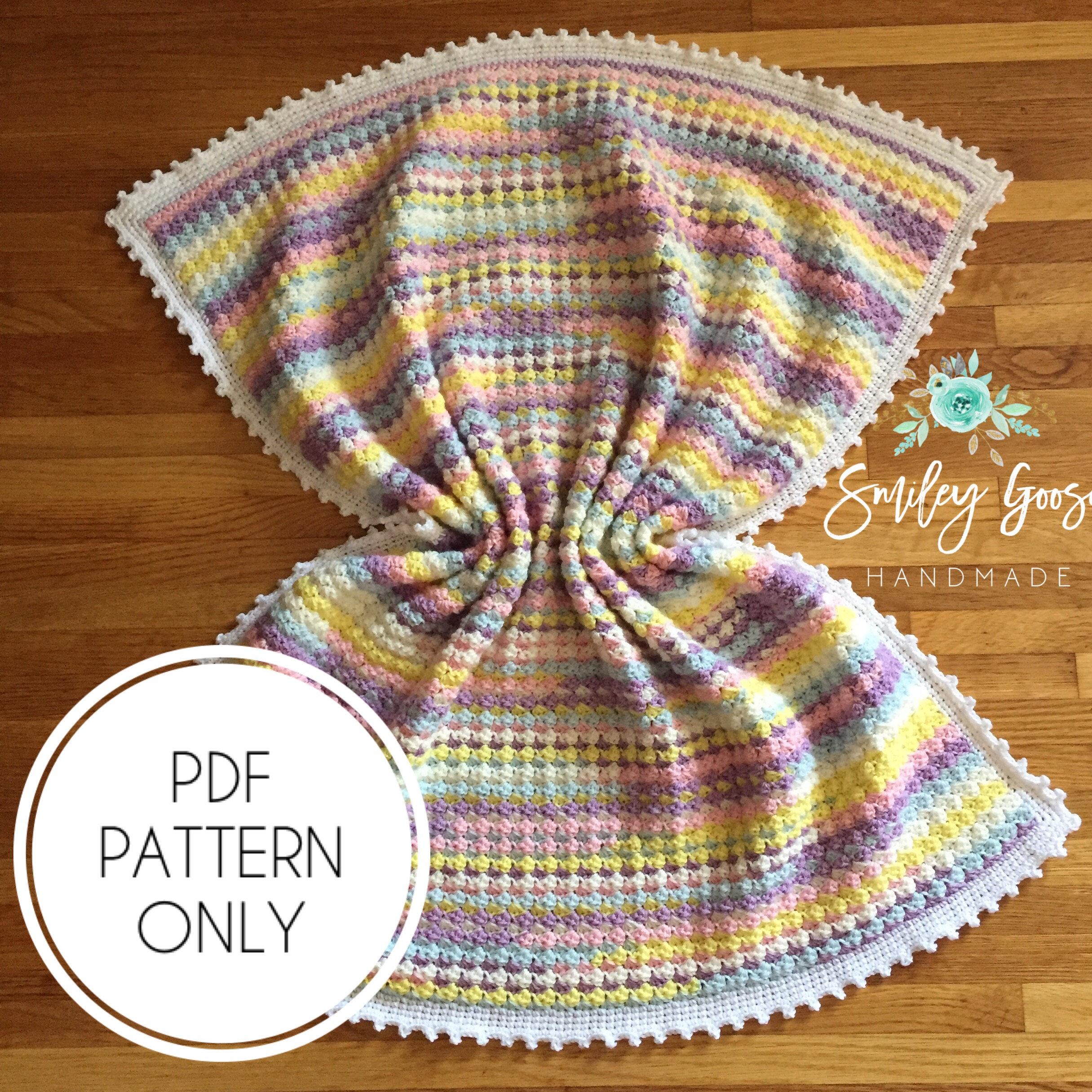 Crochet Baby Blanket Pattern Audrina Blanket Crochet Blanket Etsy