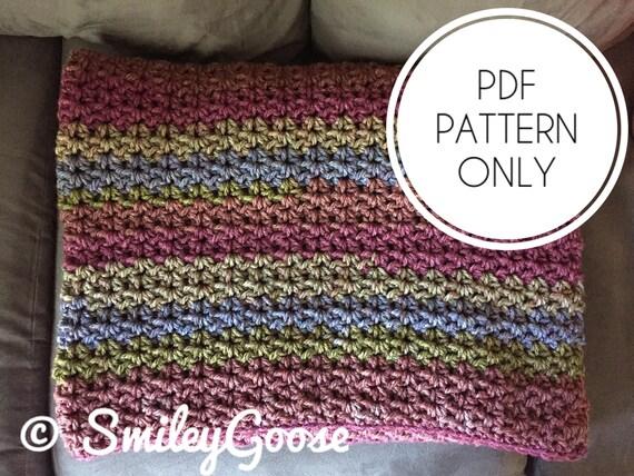 Chunky Crochet Blanket Pattern Hadley Blanket Crochet Etsy