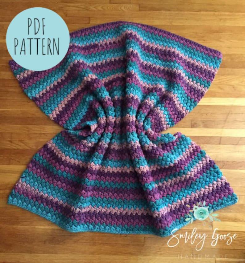 Chunky Crochet Blanket Pattern Kinsley Blanketcrochet Etsy