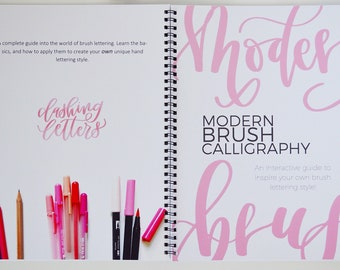 Brush Lettering Guide + Workbook (beginners guide)