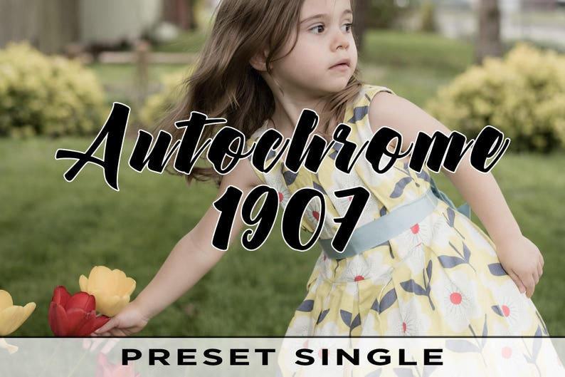 Autochrome 1907 Presets  For Adobe Lightroom Classic CC image 0