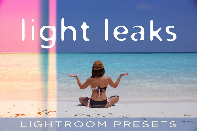 Light Leaks Presets  For Adobe Lightroom Classic CC Adobe image 0