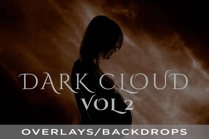 15 Dark Cloud Photoshop Overlays / Backdrops Volume 2 Real image 0