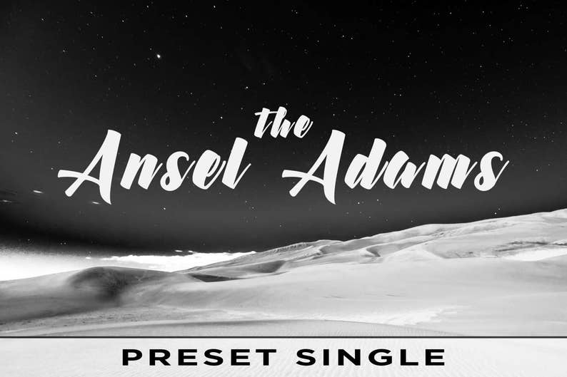 The Ansel Adams  For Adobe Lightroom Classic CC Adobe image 0