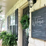 """22X27 Every Family has a story Welcome"""" / Farmhouse Style / Rustic / Home Decor / Hand painted / Wood sign / Gifts / Entry way"""