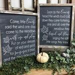 Come little leaves  12X15 Wood Sign Set, Fall Decor, Whitewash Navy, Fall, Holidays, Autumn, Farmhouse Decor