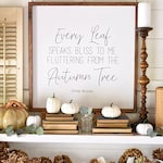 """Other Sizes 24X24 """"Autumn Tree"""" / Farmhouse Style / Rustic / Home Decor / Hand painted / Wood sign / Gifts / Fall Decor"""