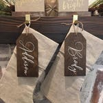 Christmas Stocking Tags / Stockings / Farmhouse Sign / Rustic / Home Decor / Hand painted / Fireplace / Farmhouse Style / Christmas