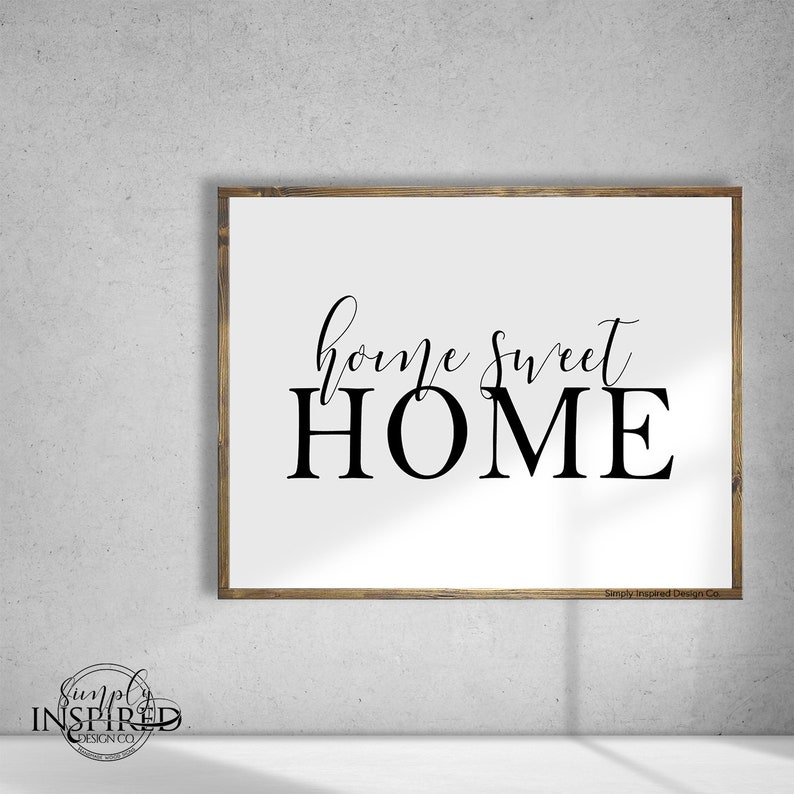 30X38 Home Sweet Home  Farmhouse Style  Rustic  Home Decor  Hand painted  Wood sign  Family room  Gift  Fireplace