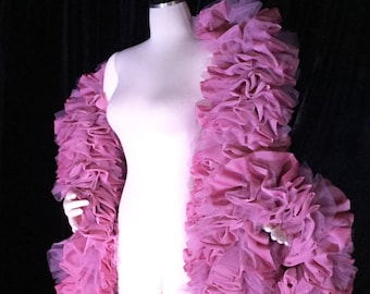 SALE: Burlesque Deluxe Dusty Rose Vegan Boa