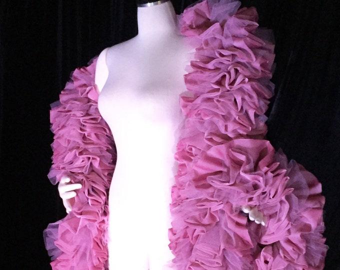 SALE: Burlesque Deluxe Dusty Rose Vegan Boa