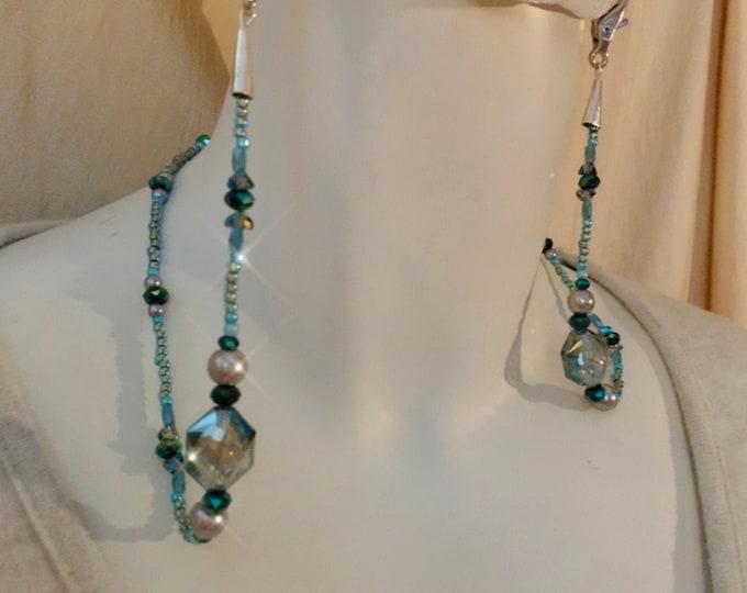 Pearl & Crystal Mask Chain -Mask Lanyard