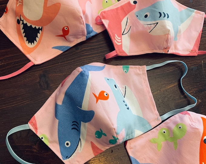 Baby Shark Mask with Filter Pocket  - PM2.5 filter included