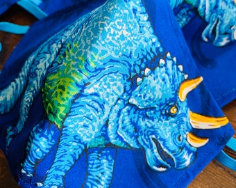 Triceratops Dinosaur Mask with Filter Pocket  - PM2.5 filter included