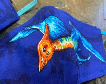 Pterodactyl Dinosaur Mask with Filter Pocket  - PM2.5 filter included