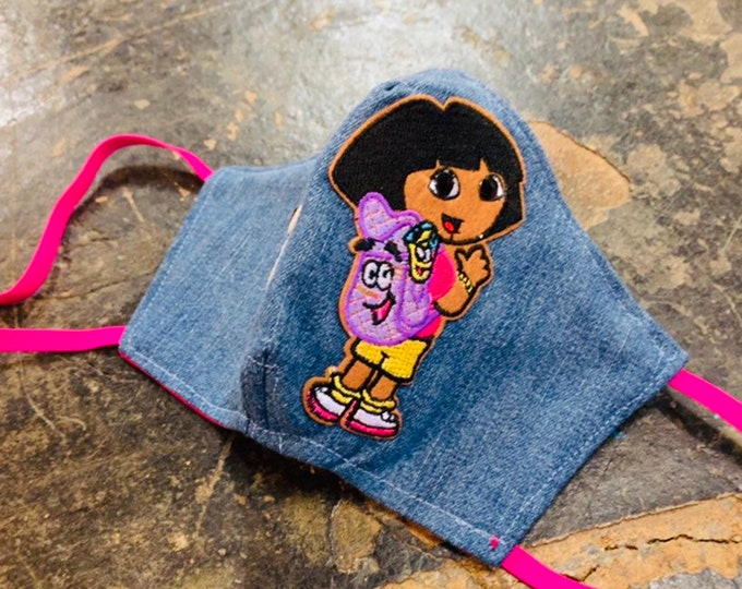 Kids Dora the Explorer and Boots Crystal Eyes Mask with Filter Pocket - PM2.5 filter included