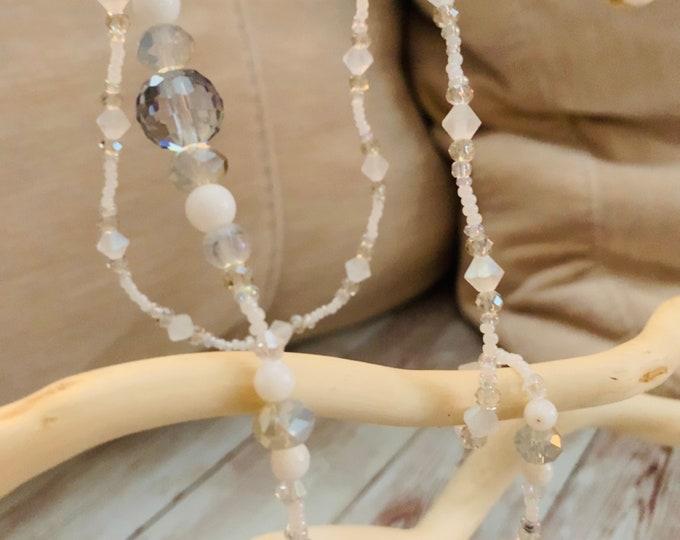 White Crystal Mask Chain  - Mask Lanyard