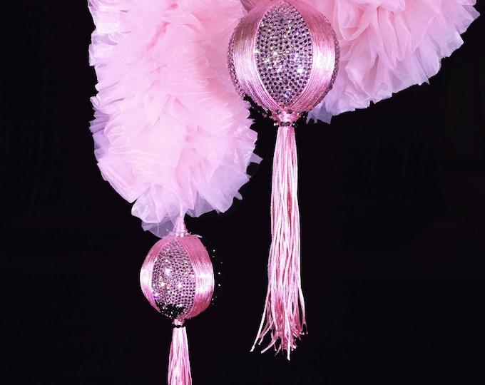 SALE: Burlesque Vegan Boa - Baby Pink with Swarovski Tassels