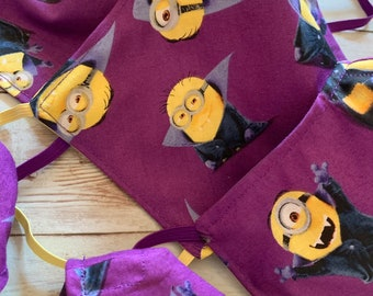 Halloween Minions Mask with Filter Pocket - PM 2.5 filter included - Vampire Minions