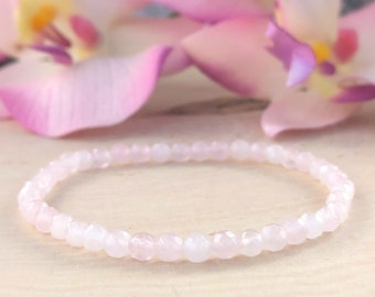 Mother gift Crystal Quartz Silver plated 3 mm Rondelle Faceted 7 inch Adjustable bracelet beaded bar bracelet jewelry for GF /& Wife