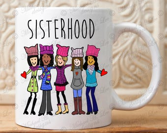 Womens march, Sisterhood gift,March on DC, March on Washington, She persisted, Nevertheless, Feminist, womens rights