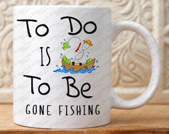 Fishing Mug, Gift for fishermen, Gift for him, Dad, father, Man, Men, Gone Fishing, Coffee Mug, Boat, fish, fishing boat, Gift for Men, Mug