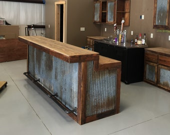 Rustic Home Bar Etsy