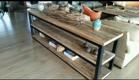 Modern Rustic Barnwood Sofa Table Etsy