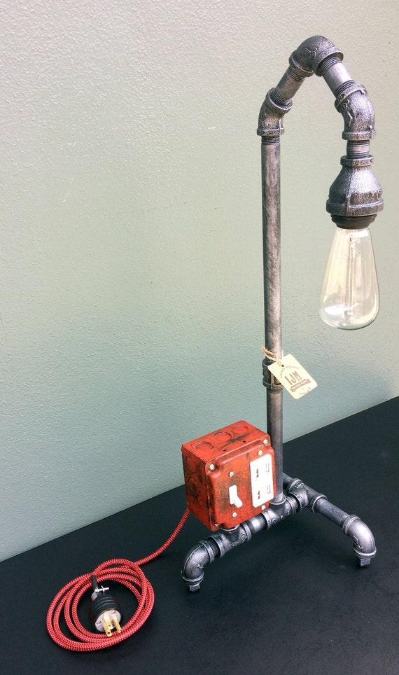 Industrial Lamp Pipe Lamp Usb Charging Station Edison Bulb