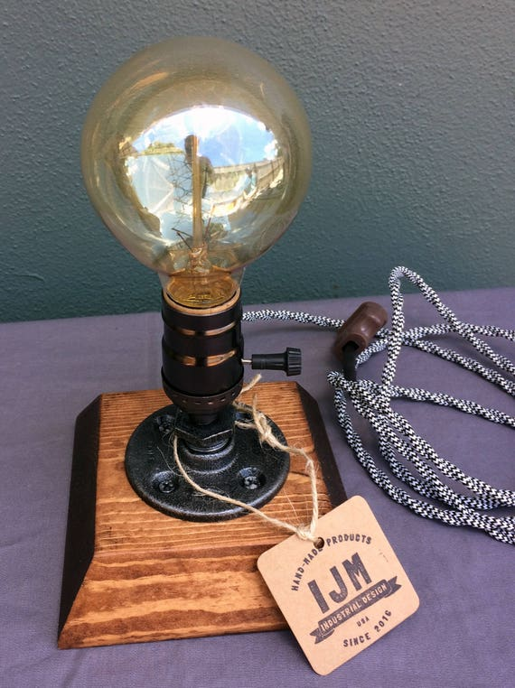 lamp Rustic Vintage Table Steampunk Reading Light Pipe Lamp Lamp Desk Industrial lamps eCroWdxB