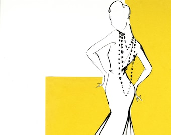 Print - Vintage Vogue Illustration