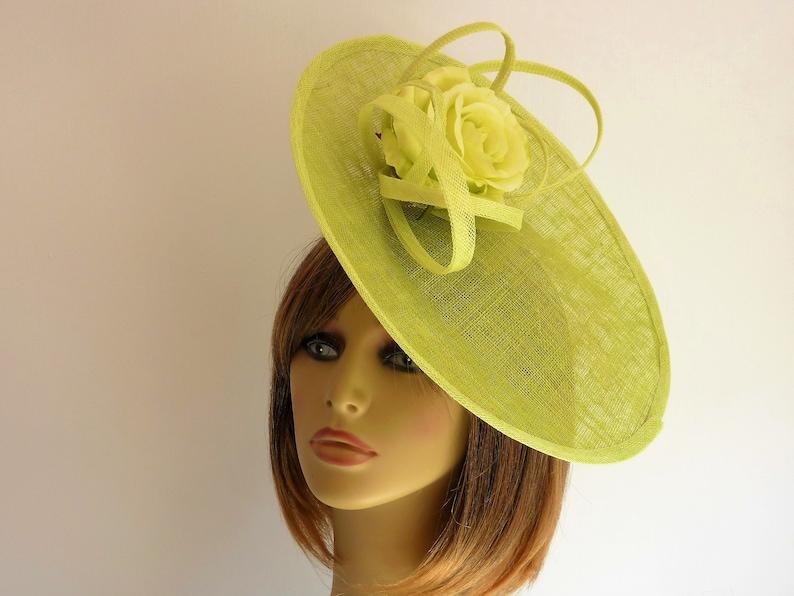 d72de7d470ccc SALE lime green fascinator wedding mother of the