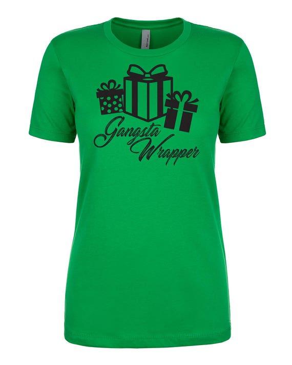 Gangsta Wrapper Christmas Ribbon Bow Cozy Cute Spirit Snow Etsy