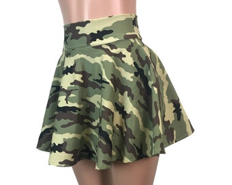 Woman Fashion Tie-dyed High Waist Camouflage Hips Casual Skirt Mini Skirt