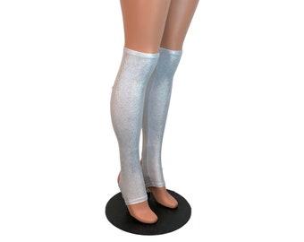 e25841f83 Silver Holographic Stirrup Leg Sleeves