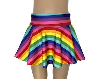 1499ba63f7c Children s Rainbow Stripe Skirt - Skater Skirt