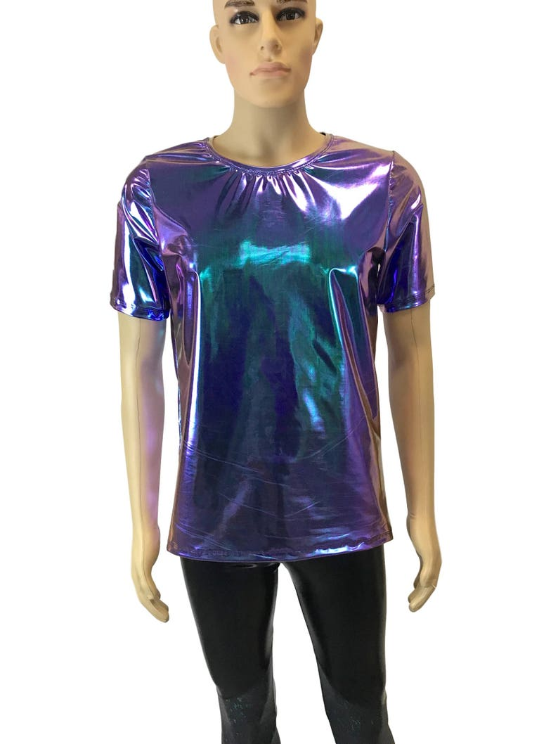 4a3fd538 Men's Holographic Oil Slick Tee or T-shirt Men's Holo | Etsy