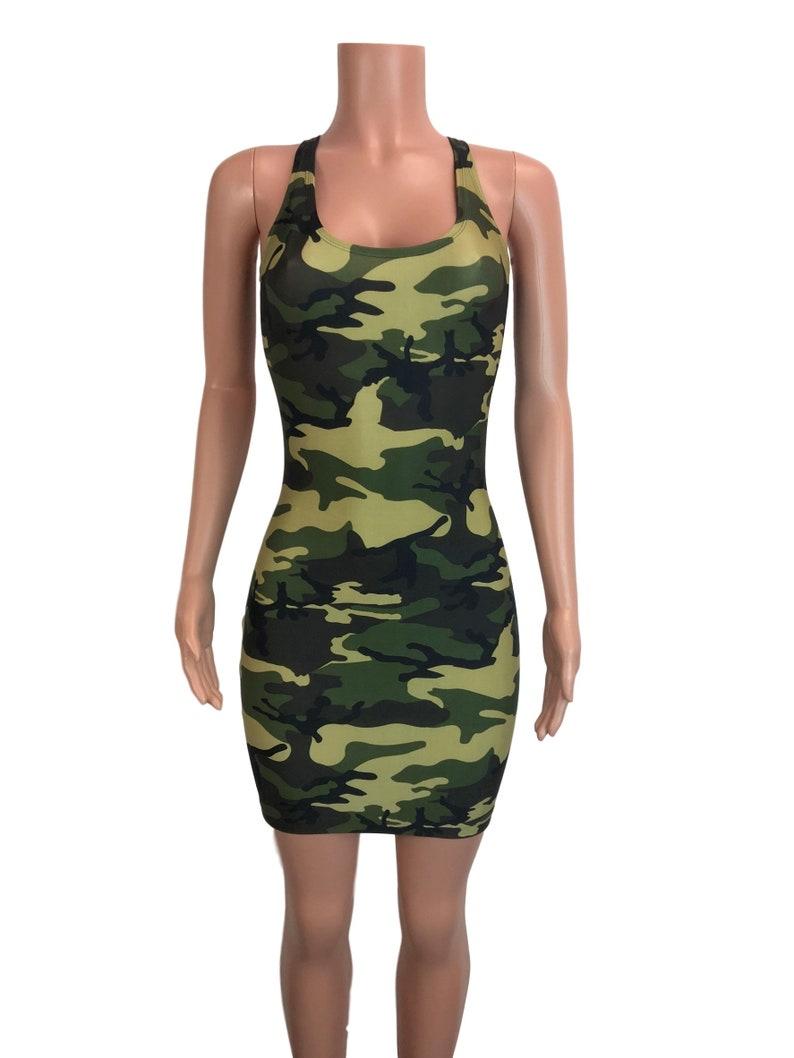 1d9391b914ea8 Camo or Camouflage Bodycon Tank Dress Club rave sexy dress   Etsy