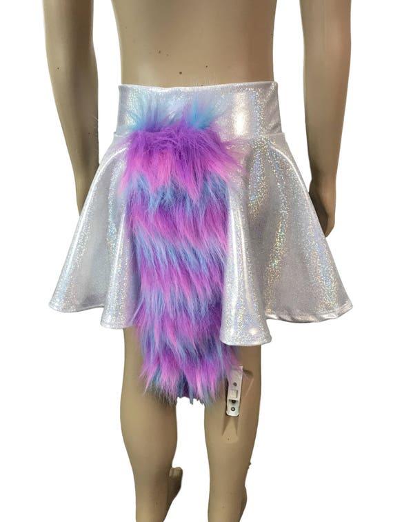 where to buy top design outlet store Jupe holographique et queue de costume de licorne des enfants - jupe de  patineur, jupe de cercle, jupe de costume