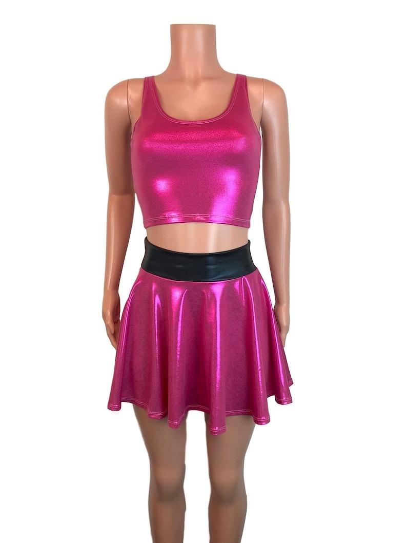 huge discount 67e4d c31fc PowerPuff Girls blühen Kostüm W / Rosa Skater Rock und Crop Top