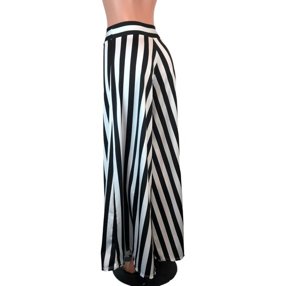 exquisite craftsmanship arrives matching in colour Palazzo Wide Leg Pants *Black & White Stripe* - Flare Pants - Striped Pants
