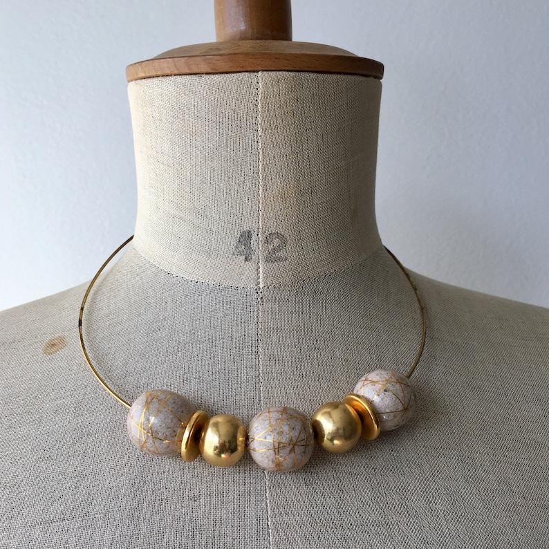 80s vintage gold chocker necklace