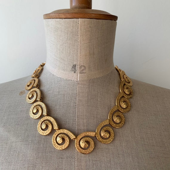 80s costume jewelry gold tone chunky chain necklac