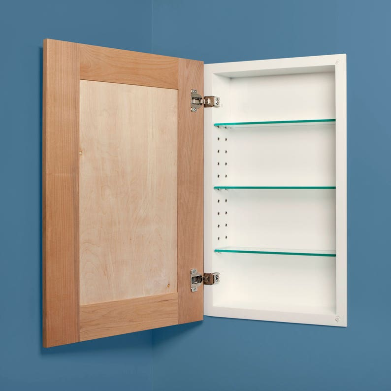 Shaker Style Recessed Medicine Cabinets Available In White Etsy