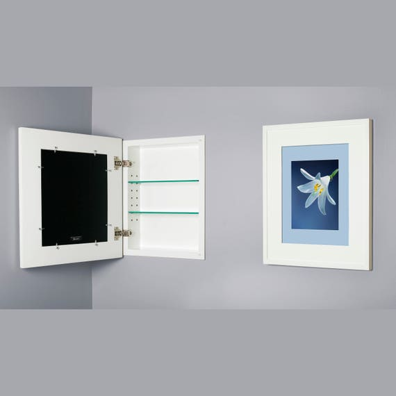 14x18 Large Concealed Medicine Cabinet Recessed Mirrorless   Etsy