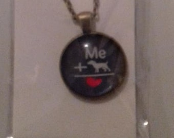ME & DOGS = LOVE charm necklace