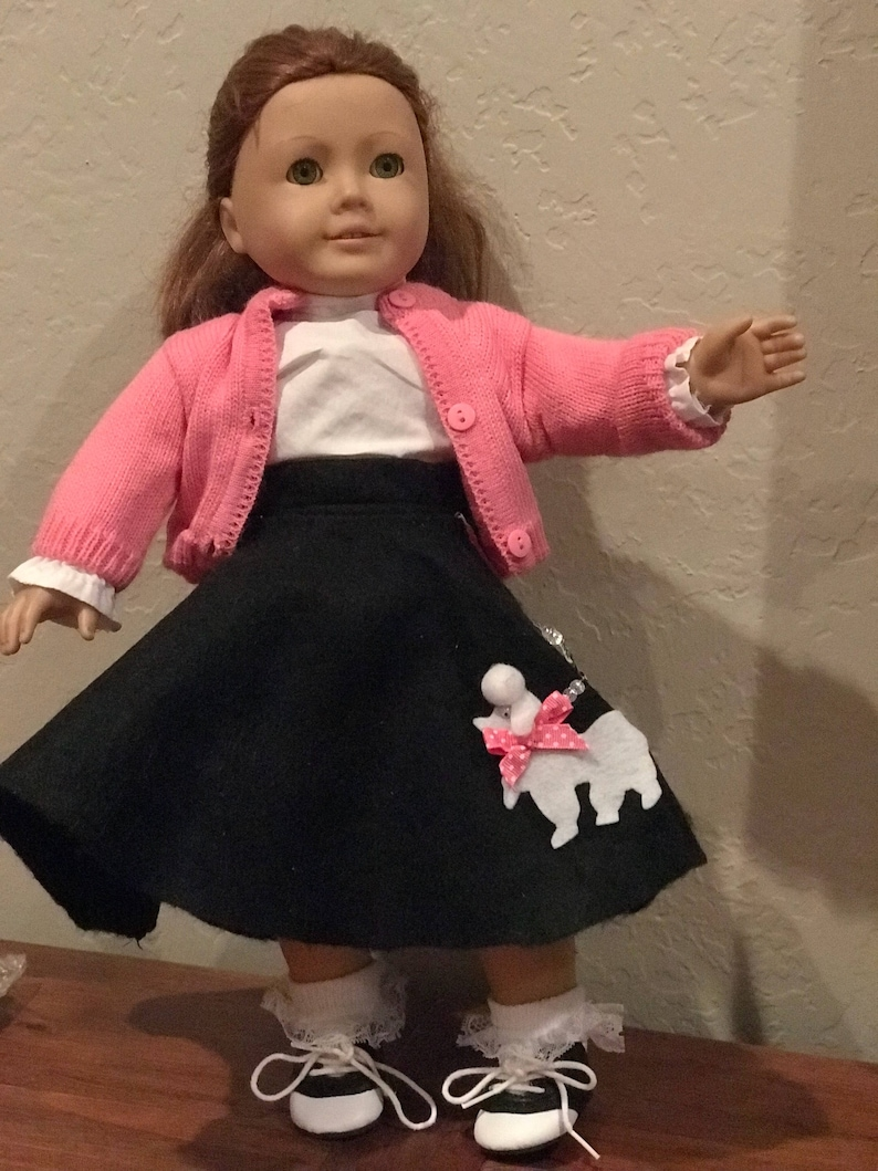 """Brown Poodle Skirt 18/"""" Doll Clothes Fit American Girl"""