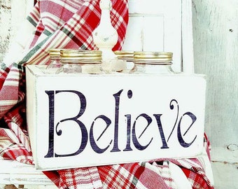 Believe mason jar crate